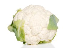 Isolated cauliflower Royalty Free Stock Photography