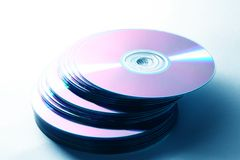 Isolated cd disk Royalty Free Stock Photography