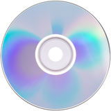 Isolated CD or DVD. A disk on white background stock photos