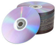 Isolated CD DVD tower Royalty Free Stock Photos