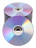 Isolated CD DVD tower Stock Images