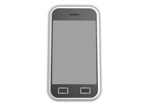 Isolated cell phone. 3d visualization of isolated cell phone with touch screen vector illustration