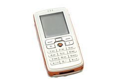 Isolated cell phone. With free space on the LCD to insert text royalty free stock photo