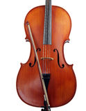 Isolated cello body with bow. Cello with bow, isolated on white stock images