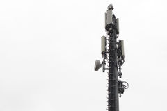 Isolated cellphones network antenna Stock Photo