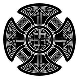 Vector celtic cross. Isolated Celtic cross from national Scandinavian ornament. Symbol of Druids, Ireland and Scotland Stock Photo