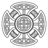 Vector celtic cross. Isolated Celtic cross from national Scandinavian ornament. Symbol of Druids, Ireland and Scotland Royalty Free Stock Photography