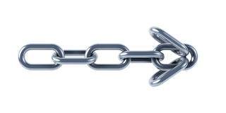 Isolated chain links 3d Stock Image