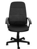 Isolated chair. Belonging to the Boss showing authority Royalty Free Stock Image