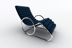 Isolated chaise lounge against white background Royalty Free Stock Image