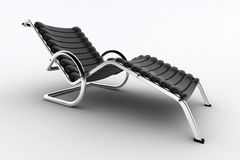 Isolated chaise lounge against white background Stock Photo