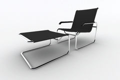 Isolated chaise lounge against white background Royalty Free Stock Photography