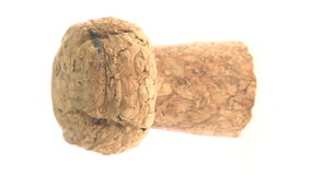 Isolated champagne cork stock footage