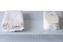 Isolated changing table Stock Photos
