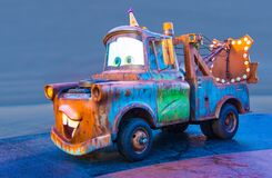 Disney California Adventure Tow Mater Truck Car Isolated