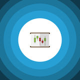 Isolated Chart Flat Icon. Diagram Vector Element Can Be Used For Diagram, Chart, Report Design Concept. Royalty Free Stock Images