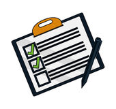 Isolated checklist with checkmark design Royalty Free Stock Image
