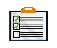 Isolated checklist with checkmark design Stock Photo