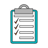 Isolated checklist with checkmark design Royalty Free Stock Images
