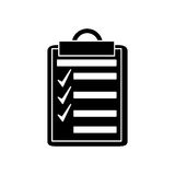 Isolated checklist with checkmark design Stock Image