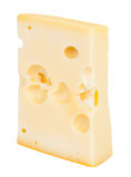 Isolated cheese chunk Royalty Free Stock Images