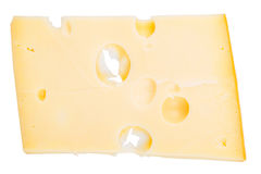 Isolated cheese chunk Royalty Free Stock Image