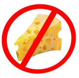 Isolated of Cheese Prohibition Signs, stop eating trans fats concept. Isolated of Cheese Prohibition Signs, stop eating trans fats Vector Illustration