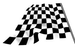 Isolated chequered flag. Isolated white and black flag Royalty Free Stock Photography