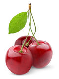 Isolated Cherries Royalty Free Stock Image