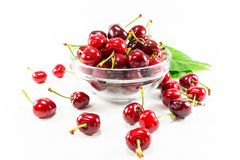 Isolated Cherry Fruit Royalty Free Stock Images