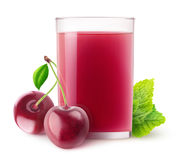 Isolated cherry juice Royalty Free Stock Image