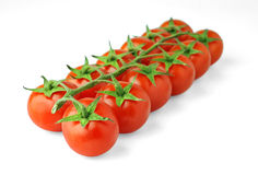 Isolated Cherry Tomatoes Royalty Free Stock Image