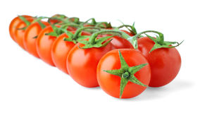 Isolated Cherry Tomatoes Royalty Free Stock Photos