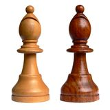 Isolated chess bishop Stock Photo