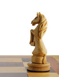 Isolated chess horse Royalty Free Stock Photos