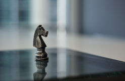 Isolated Chess Piece - Knight Stock Photo