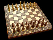 Isolated chessboard Stock Photo