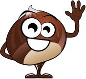 Isolated nice chestnut cartoon Stock Photo