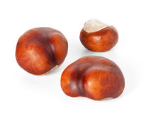 Isolated chestnuts Stock Photo