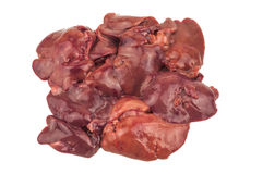 Isolated chicken liver Royalty Free Stock Photos