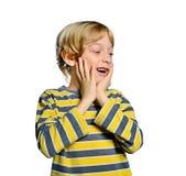 Isolated child boy Stock Photo