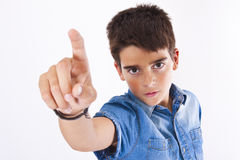 Isolated child pointing Stock Image