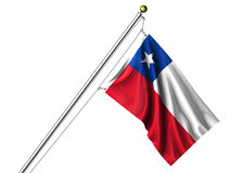Isolated Chilean Flag Royalty Free Stock Photography