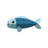 Isolated china fish decoration design. Fish icon. China cultura asia chinese theme. Isolated design. Vector illustration Royalty Free Stock Photography