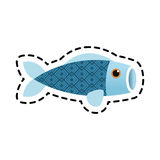 Isolated china fish decoration design. Fish icon. China cultura asia chinese theme. Isolated design. Vector illustration Stock Photography