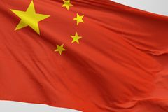 Isolated China Flag waving 3d Realistic China Flag Rendered vector illustration