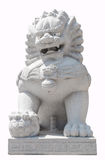 Isolated china lion sculpture stone Royalty Free Stock Photography
