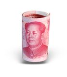 Isolated China money royalty free stock image