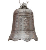Isolated for chinese bell. Isolated for bell in the chinese temple Royalty Free Stock Photo