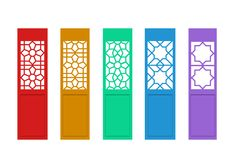 Isolated Chinese door with indian pattern, vector